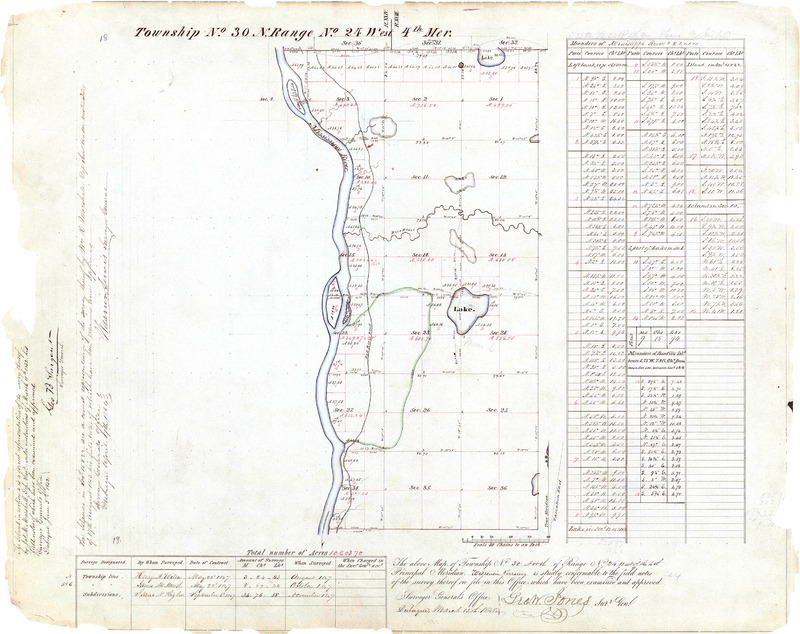 1848 Map with Rice Creek