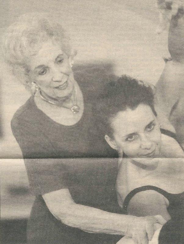 Dorothy Lundstrum in 1998, still teaching