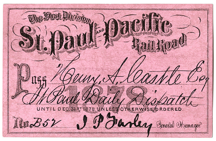 St. Paul & Pacific Railroad pass