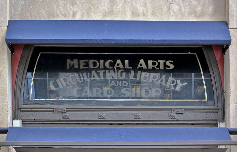 Medical Arts Building -- mysterious window text