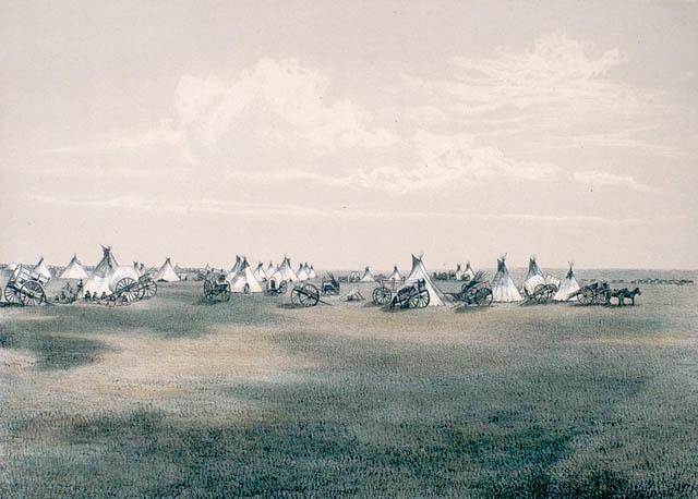 Metis Prairie Camp, 1873