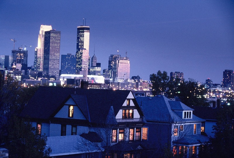 Downtown Minneapolis, looking southeast from the Old Highland neighborhood