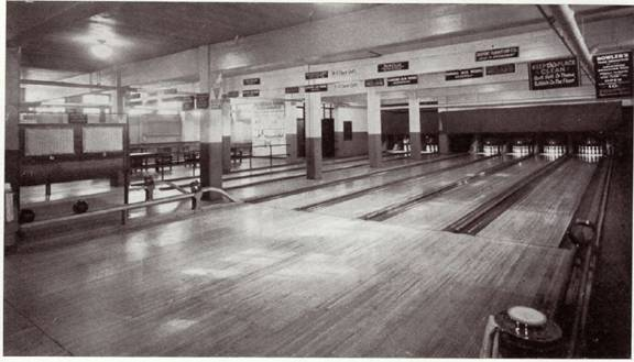 Bowling Alley in Ascension Club ca. 1940