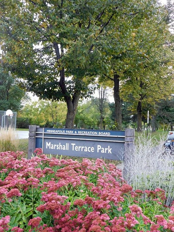 Marshall Terrace Park sign