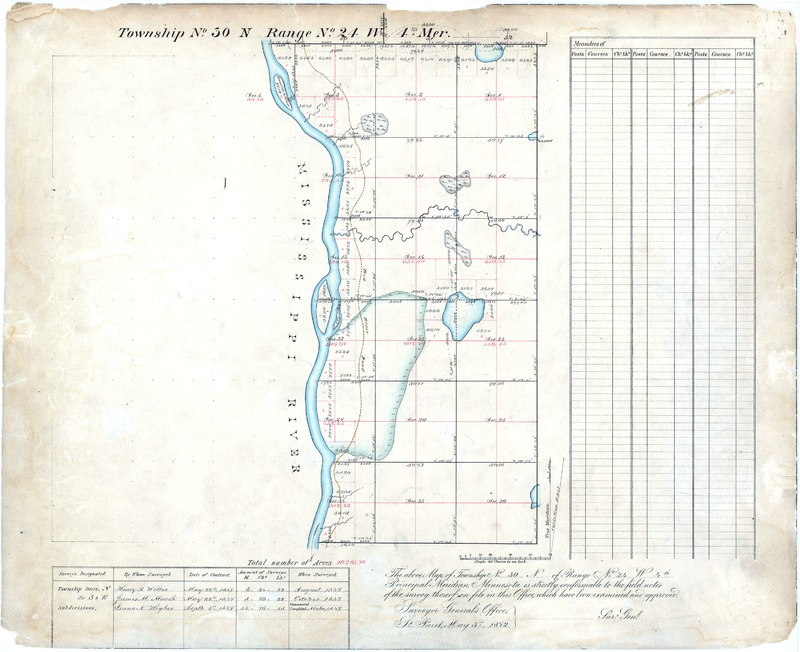 1872 Map with Rice Creek