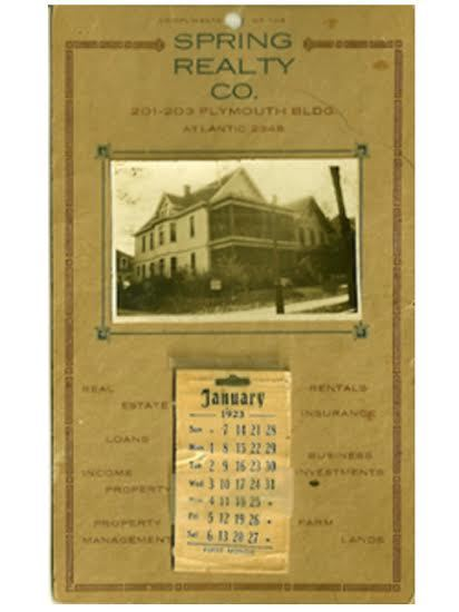 Home calendar with image of 1624 Emerson Avenue North, 1923
