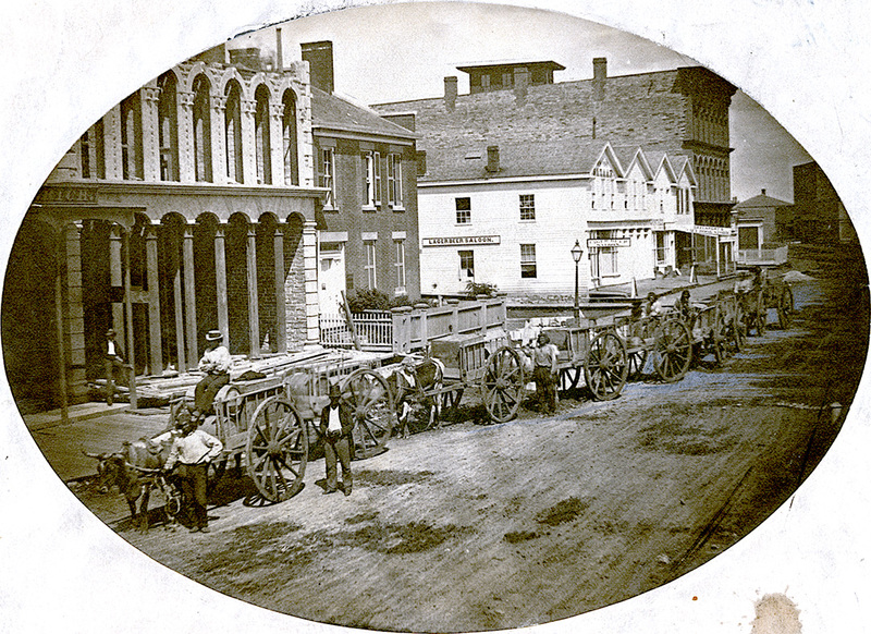Ox carts in St. Paul