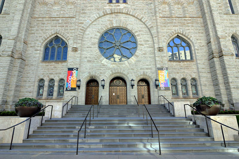 Westminster Presbyterian Church -- front entrance
